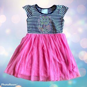 Beautees Girls Dress Bling Owl Tulle Skirt Pink 6
